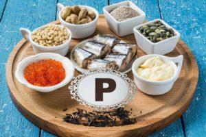 Микро- и макроэлементы, источники фосфора, продукты питания