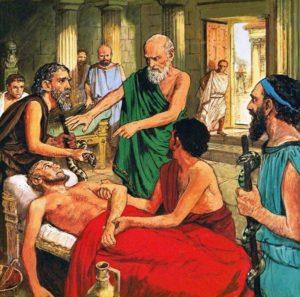 лечебницы, врачевание, греция