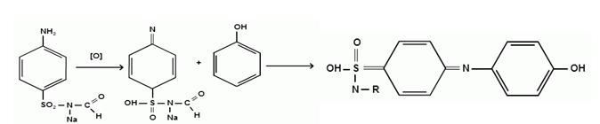 Реакция окисления сульфацил-натрия