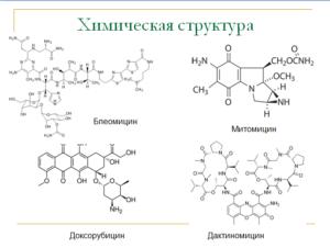 химическая структура, противоопухолевые антибиотики